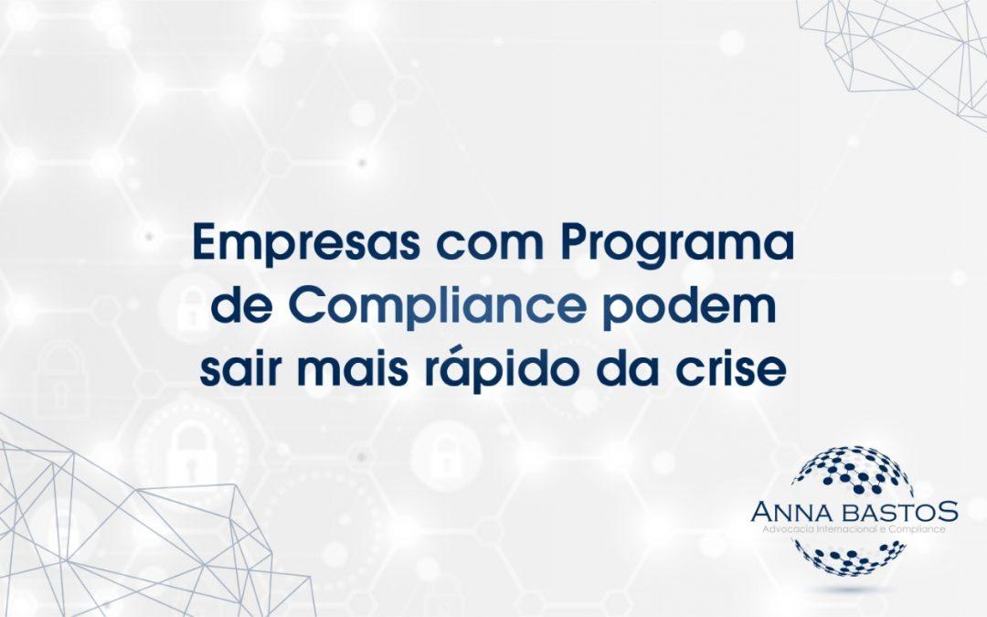 Empresas com Programa de Compliance podem sair mais rápido da crise