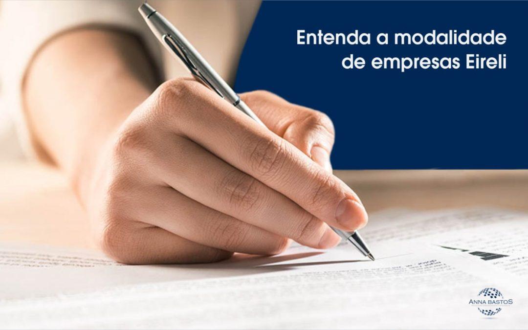 Modalidade de registro de empresa EIRELI