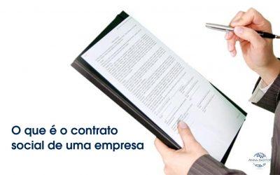 O que é o contrato social de uma empresa